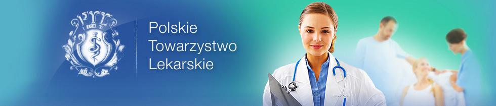 Polskie Towarzysto Lekarskie logo z tłem